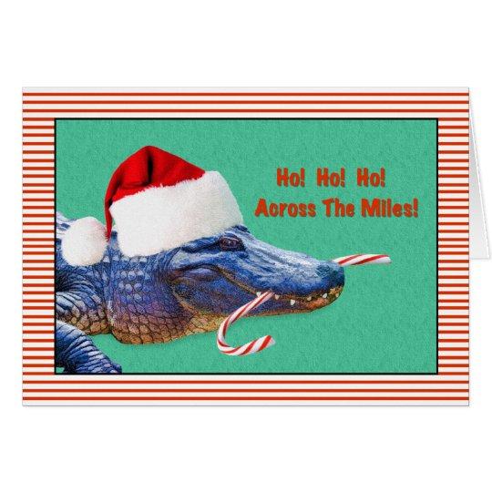 Christmas, Across the Miles, Alligator Card