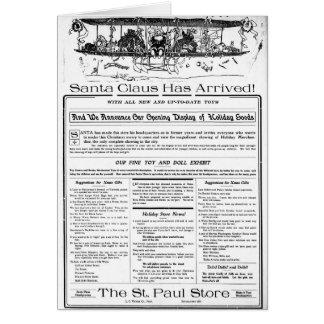 Christmas ad 1909 Little Falls Herald Minnesota Card