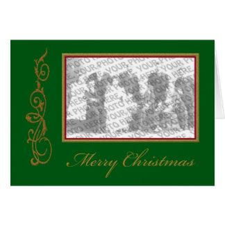 Christmas Add Your Photo Frame Customizable Card