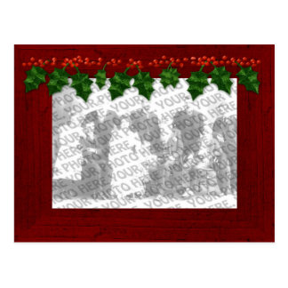 Christmas Add Your Photo Frame Postcard