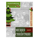 Christmas ADD YOUR PHOTO Whimsical Tree Post Cards
