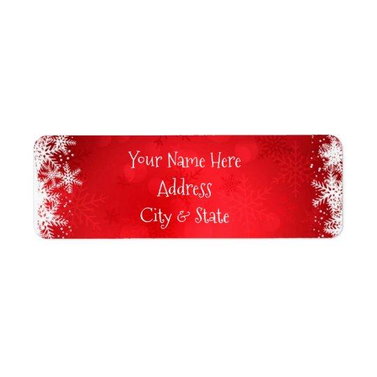 Christmas Address Labels/Snowflakes Return Address Label