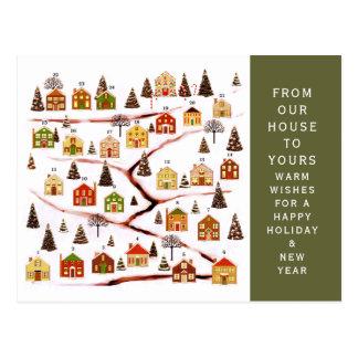 Christmas Advent calendar Postcard
