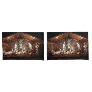 Christmas Advent Jesus Nativity Manger Scene Pillowcase
