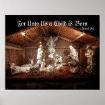 Christmas Advent Jesus Nativity Manger Scene Poster