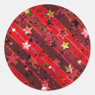 Christmas Advent Star Sticker