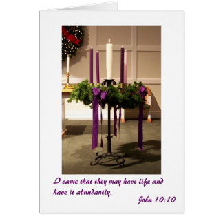 Christmas Advent Wreath and Candles Card