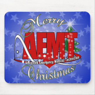 CHRISTMAS AEMT Advanced Emergency Medical Tech Mouse Pad