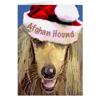 Christmas Afghan Hound Greeting Card