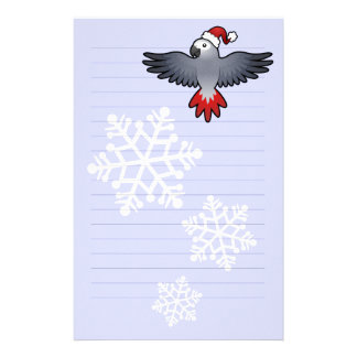 Christmas African Grey / Amazon / Parrot Customized Stationery
