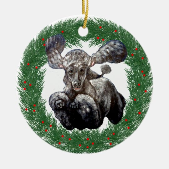 Christmas Agility Poodle Design Christmas Ornament