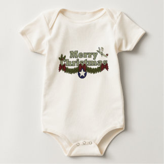 Christmas, Air Force Apparel Baby Bodysuit