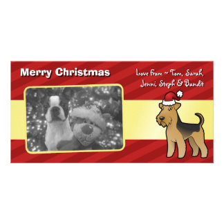 Christmas Airedale Terrier / Welsh Terrier Photo Cards