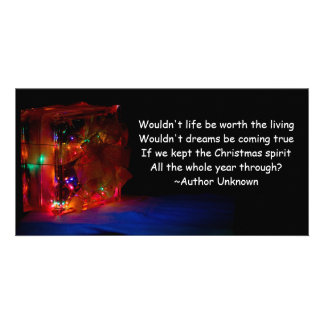 Christmas All Year Quote Custom Photo Card