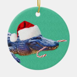 Christmas Alligator Ornament