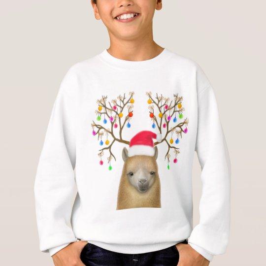 Christmas Alpaca Kids Sweatshirt