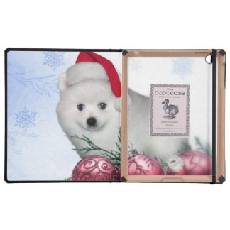 Christmas American Eskimo dog iPad Folio Cases