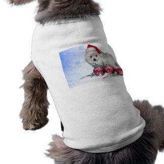 Christmas American Eskimo dog Dog Tee