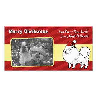 Christmas American Eskimo Dog / German Spitz Card