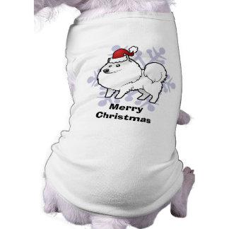 Christmas American Eskimo Dog / German Spitz Dog Tshirt