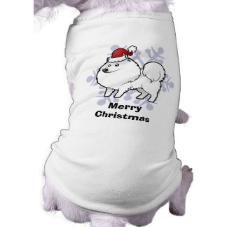 Christmas American Eskimo Dog / German Spitz Sleeveless Dog Shirt