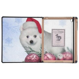 Christmas American Eskimo dog iPad Cover