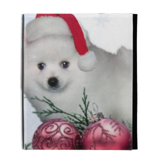 Christmas American Eskimo dog iPad Folio Covers