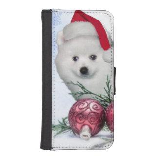 Christmas American Eskimo dog iPhone 5 Wallet