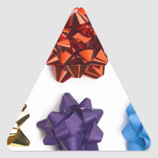 Christmas and Decorative Bows Triangle Sticker