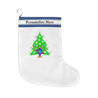 Christmas and Hanukkah Large Christmas Stocking