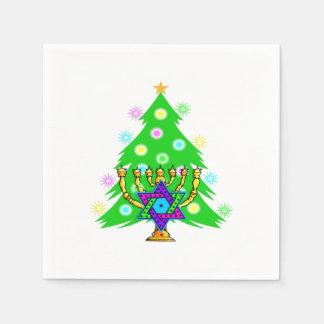 Christmas and Hanukkah Paper Napkin