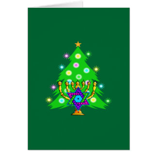 Christmas and Hanukkah Together Greeting Cards