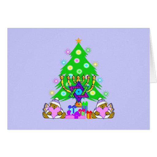 Christmas and Hanukkah Together Card