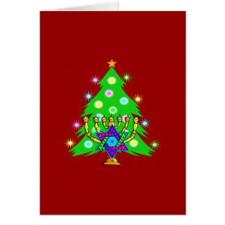Christmas and Hanukkah Together Cards