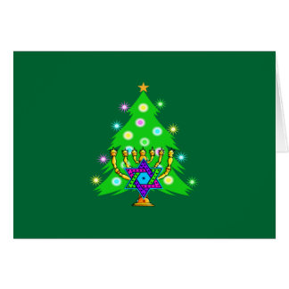Christmas and Hanukkah Together Card