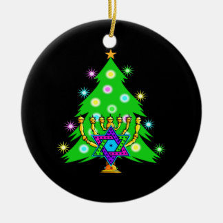 Christmas and Hanukkah Together Christmas Ornament