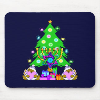 Christmas and Hanukkah Together Mouse Mat
