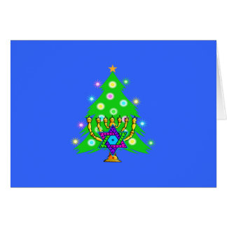 Christmas and Hanukkah Together Note Card