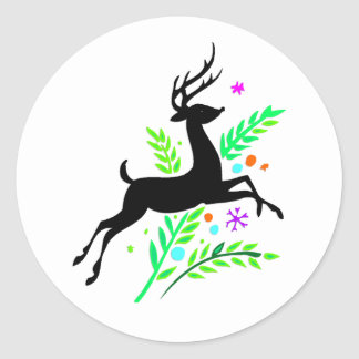 Christmas and Seasons Greetings Classic Round Sticker