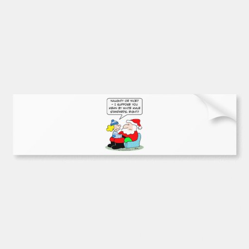 Christmas and white male standards bumper stickers