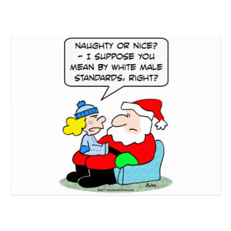 Christmas and white male standards postcard