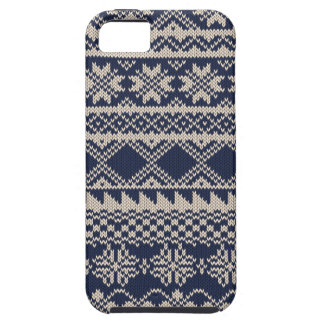 Christmas and Winter knitted pattern iPhone 5 Cover