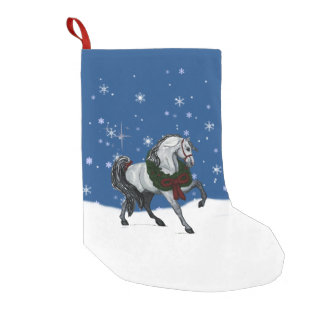 Christmas Andaulusian Horse Stocking