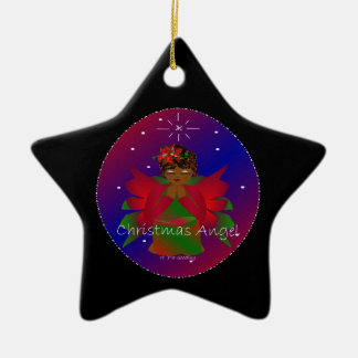 Christmas Angel Baby Around the World In Black II Christmas Ornament