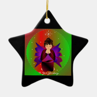Christmas Angel Baby Around the World In Black II Christmas Tree Ornaments