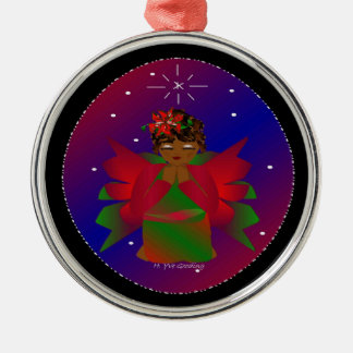 Christmas Angel Baby Around the World In Black IV Ornament