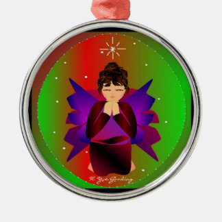 Christmas Angel Baby Around the World In Black IV Christmas Tree Ornament
