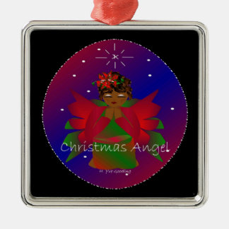 Christmas Angel Baby Around the World In Black IV Ornaments