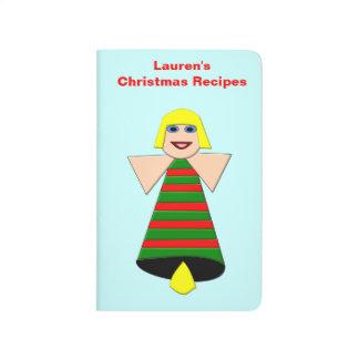 Christmas Angel Bell Custom Recipe Journal
