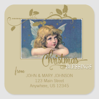 Christmas Angel Blessings Address Label